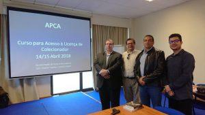 Os nossos formandos brasileiros: Dr. Vinicius Simões, Juiz de Direito, e o Sr Major Silva Júnior, da Polícia Militar.